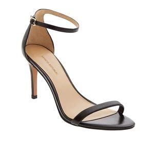 NWB - BR Black Leather Bare High Heel Sandal